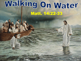 Walking On Water - Radford Church of Christ