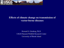 Presentation: Effects of Climate Change on