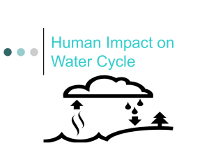 Human Impact on Water Cycle - Western Reserve Public Media