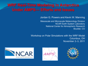 WRF Real-Time Modeling in Antarctica Under AMPS