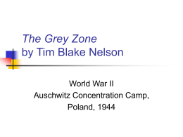 PowerPoint Presentation - The Grey Zone by Tim Blake Nelson