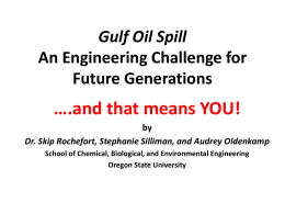 Oil Spill Cleanup - Oregon State University