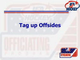 Tag up Offsides