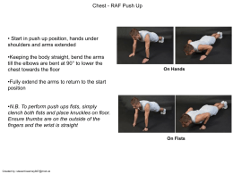 Chest - RAF Push Up