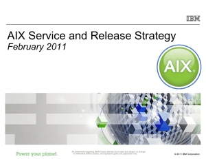 2007 AIX 5L Release Strategy