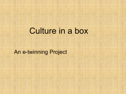 Culture in a box (formát PPT)