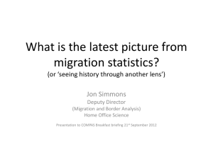 """What is the latest picture from migration statistics?"""