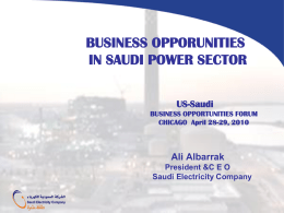 Business Opportunities in the Saudi Power Sector - US