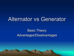 Alternator vs Generator Presentation