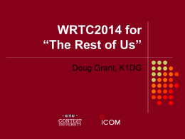 "WRTC2014 for ""The Rest of Us"""