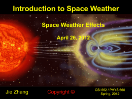 CH12: Space Weather Effects