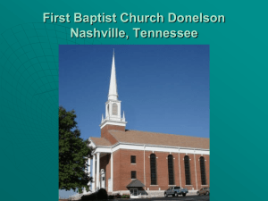 First Baptist Church Donelson Nashville, Tennessee