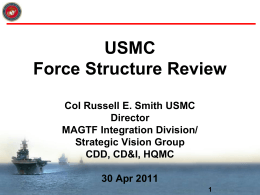 Force Structure Review Group MCExecutive Council