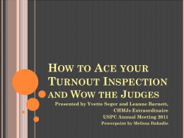 How to Ace Your Turnoout Inspection
