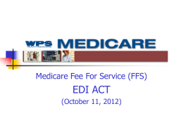 Medicare Fee For Service (FFS)