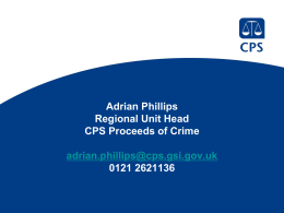CPS proceeds of crime (PowerPoint)