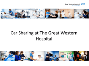 Rachel Rablen: Car Sharing at the Great Western Hospital