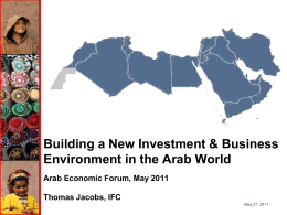Mr. Thomas J. Jacobs, Senior Country Officer – Lebanon, Middle