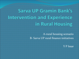 RURAL HOUSING FINANCE - National Housing Bank