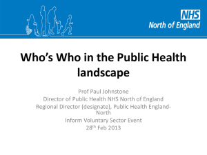 Who`s Who in the Public Health Landscape