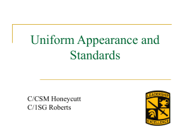 Uniform Appearance and Standards