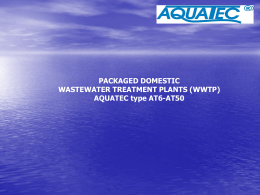 Packaged domestic wastewater treatment