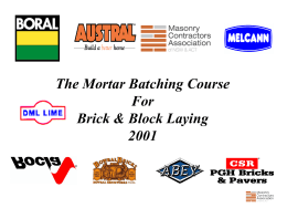 MCA Presentation Mortar Batching