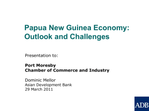 Outlook and Challenges for PNG Economy in 2011
