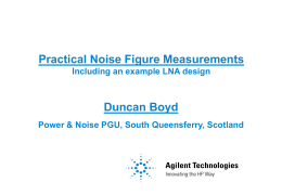 Practical Noise Figure Simulations and Measurements