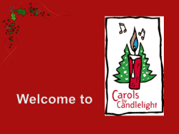 Carols by Candellight