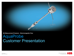 AquaProbe Xxxxx - Process Solutions