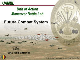 Future Combat System - Transforming Logistics Through