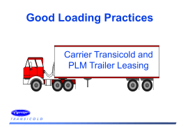 Good Loading Practices
