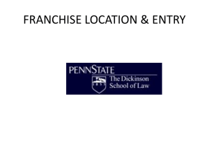 League Restrictions on Franchise Location and