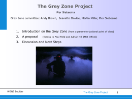 The Grey Zone Project