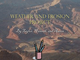 Weather And Erosion Project