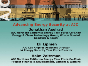 How can AJC continue to play a role in advancing energy security?