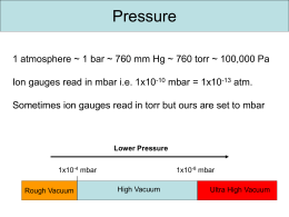 Pressures and Pumps