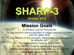 SHARP-3 October 2012 - Shaftesbury High Altitude Robotics Project