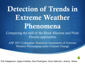Detection of trends in extreme weather phenomena