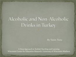 Alcoholic and Non-Alcoholic Drinks ın Turkey