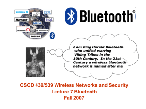 Bluetooth Lecture