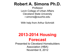 Robert A. Simons Ph.D. - Maxine Goodman Levin College of Urban