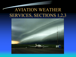 SECTION 1,2 AVIATION WX SERVICE PROGRAM