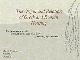Greek and Roman housing