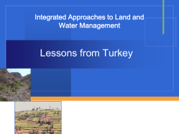 Integrated Land and Water Management