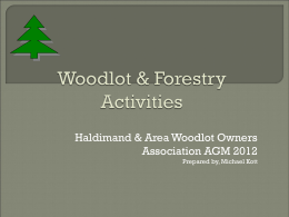 Woodlot & Forestry Activities - Haldimand & Area Woodlot Owners