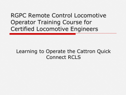 rcl training ppt
