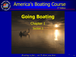 Section 3, Going Boating