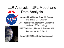 JPL Model - UCSD Department of Physics